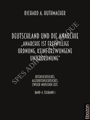 cover image of Deutschland und die Anarchie