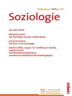 cover image of Soziologie 4.2011