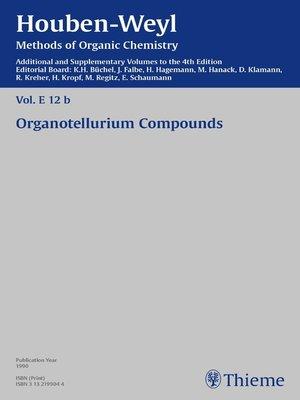 cover image of Houben-Weyl Methods of Organic Chemistry Volume E 12b Supplement