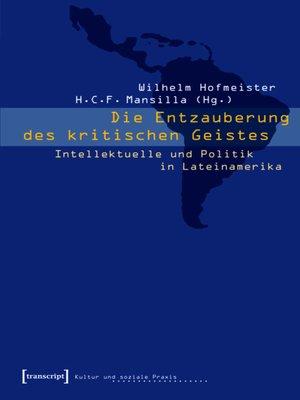 cover image of Die Entzauberung des kritischen Geistes