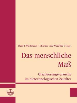 cover image of Das menschliche Maß