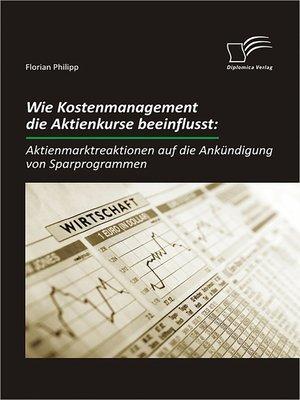 cover image of Wie Kostenmanagement die Aktienkurse beeinflusst