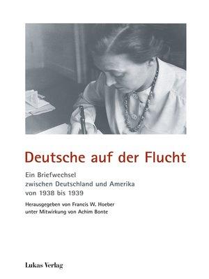 cover image of Deutsche auf der Flucht