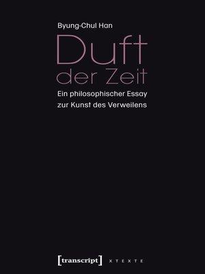 cover image of Duft der Zeit