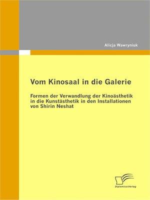cover image of Vom Kinosaal in die Galerie