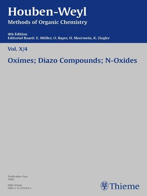 cover image of Houben-Weyl Methods of Organic Chemistry Volume X/4