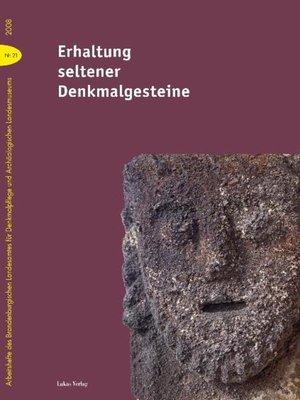 cover image of Erhaltung seltener Denkmalgesteine