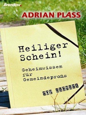 cover image of Heiliger Schein