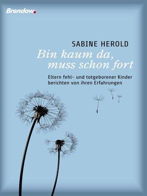 cover image of Bin kaum da, muss schon fort