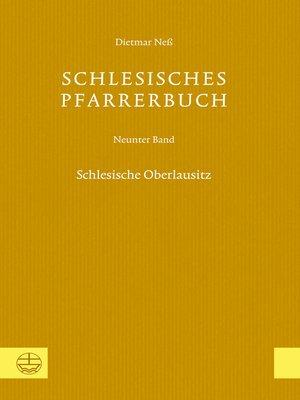 cover image of Serie Schlesisches Pfarrerbuch, Buch 9