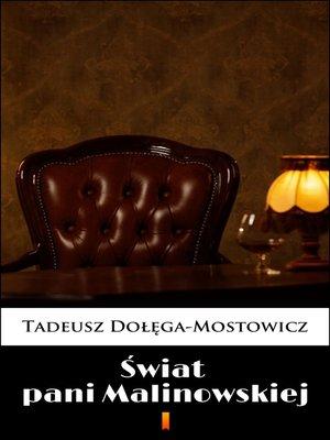 cover image of Świat pani Malinowskiej