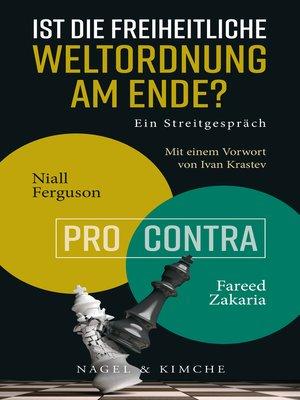 cover image of Ist die freiheitliche Weltordnung am Ende? Ein Streitgespräch