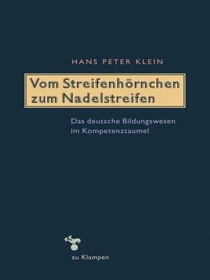 cover image of Vom Streifenhörnchen zum Nadelstreifen