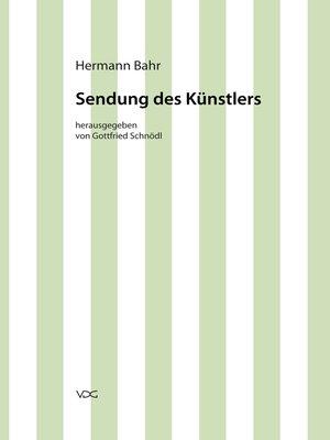 cover image of Sendung des Künstlers