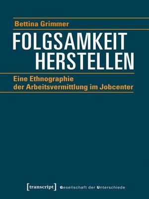 cover image of Folgsamkeit herstellen
