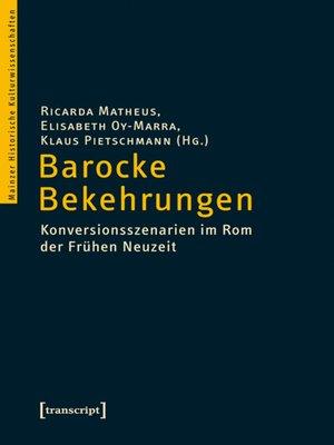 cover image of Barocke Bekehrungen