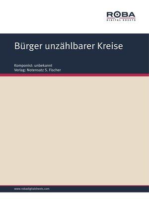 cover image of Bürger unzählbarer Kreise