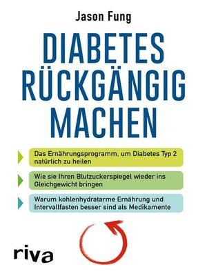 cover image of Diabetes rückgängig machen