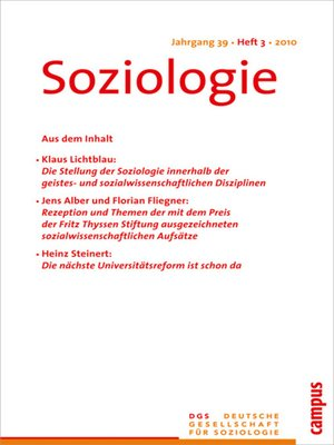 cover image of Soziologie 3.2019