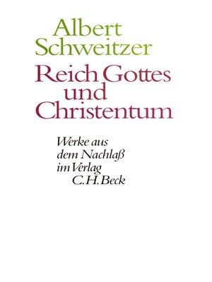 cover image of Reich Gottes und Christentum