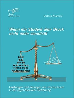cover image of Wenn ein Student dem Druck nicht mehr standhält