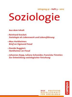 cover image of Soziologie 3.2012