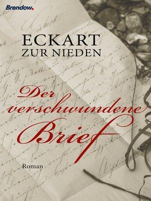 cover image of Der verschwundene Brief