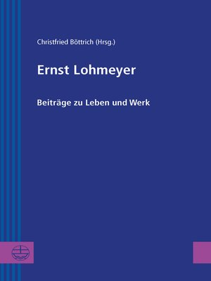 cover image of Ernst Lohmeyer