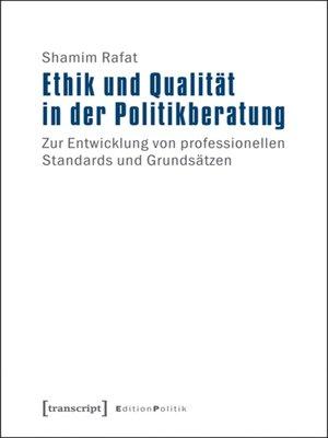 cover image of Ethik und Qualität in der Politikberatung