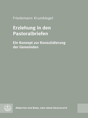 cover image of Erziehung in den Pastoralbriefen