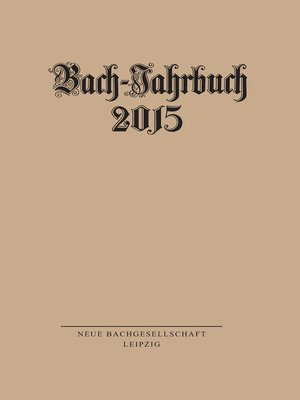 cover image of Bach-Jahrbuch 2015