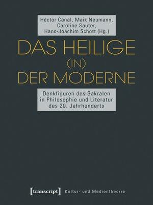 cover image of Das Heilige (in) der Moderne