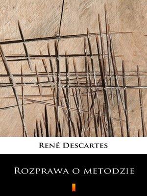 cover image of Rozprawa o metodzie