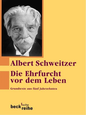 cover image of Die Ehrfurcht vor dem Leben