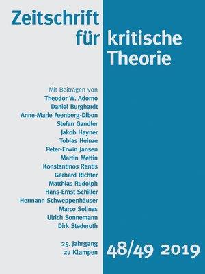 cover image of Zeitschrift für kritische Theorie