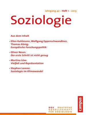 cover image of Soziologie 1.2013