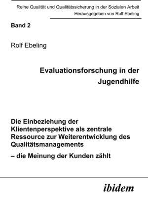 cover image of Evaluationsforschung in der Jugendhilfe