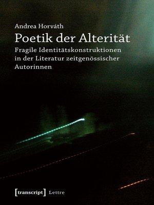 cover image of Poetik der Alterität