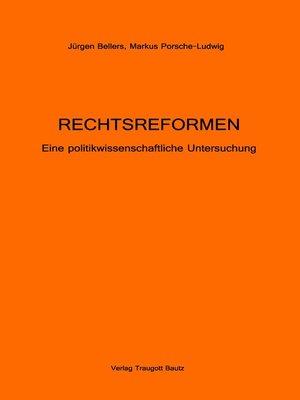 cover image of RECHTSREFORMEN