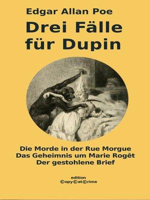 cover image of Drei Fälle für Dupin