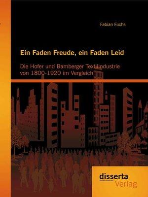 cover image of Ein Faden Freude, ein Faden Leid