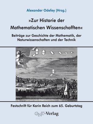 cover image of Zur Historie der Mathematischen Wissenschafften