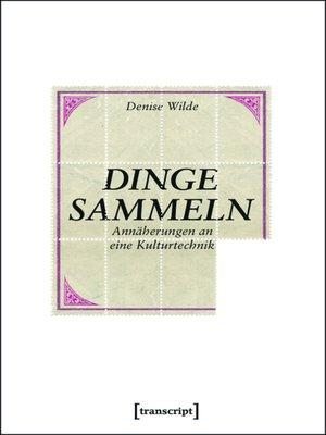 cover image of Dinge sammeln