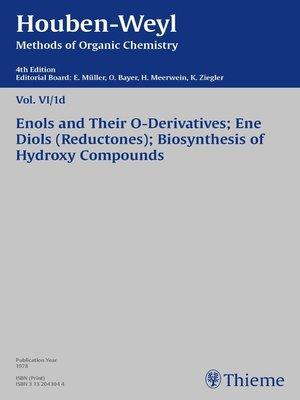 cover image of Houben-Weyl Methods of Organic Chemistry Volume VI/1d