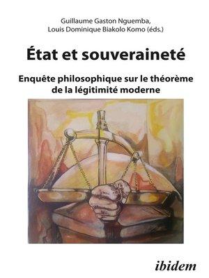 cover image of Etat et Souverainete