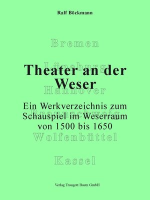 cover image of Theater an der Weser.