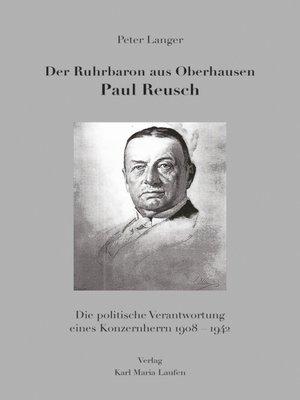 cover image of Der Ruhrbaron aus Oberhausen Paul Reusch