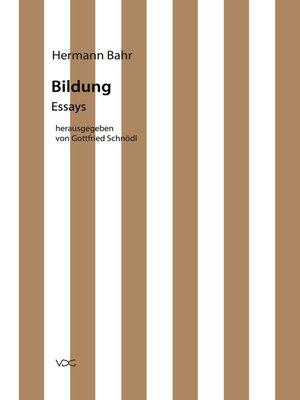 cover image of Bildung