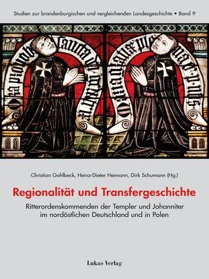 cover image of Regionalität und Transfergeschichte