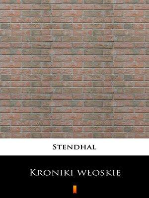 cover image of Kroniki włoskie